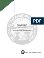 City of Beachwood 2013 state audit
