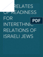 Correlates of Readiness for Interethnic Relations of Israeli Jews
