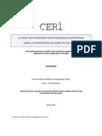 Epmes Le Role Des Organisations Regionales Africaines