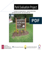2010 Weinland Park Evaluation Project