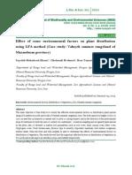 Effect of some environmental factors on plant distribution using LFA method (Case study