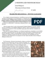 Tradições Religiosas - Textos Sagrados - 6º Ano - 2013(1)