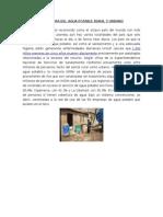 Cobertura Del Agua Potable Rural y Urbano