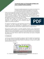 Aplicación de Deconvolución Ciega en La Tomografía de Refracción Sísmica y Análisis de Microtremores