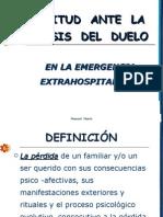 ACTITUD ANTE LA CRISIS DEL DUELO EN LA EMERGENCIA ESTRAHOSPITALARIA.ppt