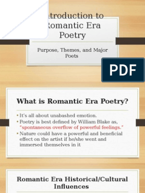 Romantic Poetry Introduction To Romantic Era Poetry