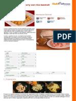 GZRic Pollo e Gamberi Al Curry Con Riso Basmati