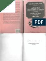 SIDICARO, R- La Política Mirada Desde Arriba- Introducción