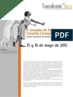 II Jornadas de Reflexión sobre Creación Coreográfica en Danza-Normas Para Presentación de Ponencias