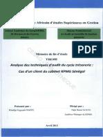 Analyse Des Techniques d'Audit Du Cycle Trésorerie