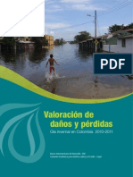 Valoración de Daños y Pérdidas. Ola invernal en Colombia 2010-2011