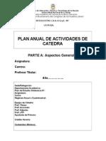 Plan Anual de Actividades de Cátedra