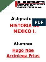 UBC.historia de Mexico I