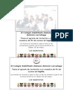 Invitaciones Muestra de Colegio