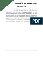 Informe de Los 14 Principios de La Administracion de Henry Fayol