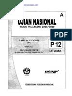 Naskah Soal UN Bahasa Inggris SMA 2010 (Paket 12)