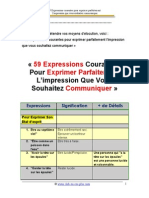 Expression Courantes