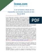 Retención en La Fuente Impuestos Nacionales 2015