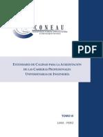 Tomo IX Estandares de Calidad Para La Acreditacion de Las Carreras Profesionales Universitarias de Ingenieria