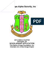 Alpha Kappa Alpha Sorority 2015 Scholarship Application