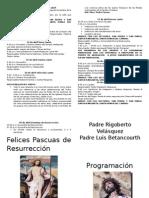 Programacion Semana Santa 2014 Sector Cristo Rey