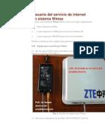 Manual del usuario del servicio de internet de Claro Wimax.pdf