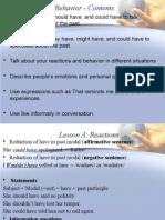 Behavior (english lessons)