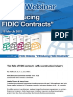 The Role of FIDIC contracts in the construction industry