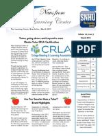 Newsletter 1 Spring 2015