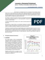 Boletín Economía y Demanda Profesional 2014 Anual