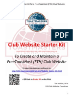 Toastmaster Club Starter Kit for FTH Websites (OLD)