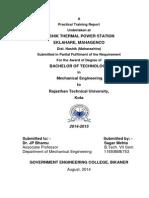 Sagar Mehta(11eebme753) Training Report( Ntps Nashik)