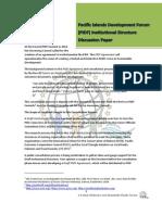 PIDF Institutional Structure Discussion Paper
