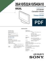 Sony Service Manual KLV-S40A10
