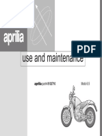 Aprilia Moto 6.5 1995 Owner's Manual English