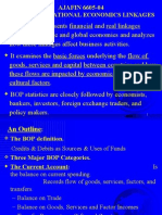 BOP & INTERNATIONAL ECONOMICS LINKAGES