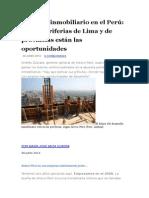 Mercado Inmobiliario en El Perú