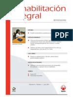 Clasificación Internacional Del Funcionamiento, De La Discapacidad y de La Salud (CIF) y Su Aplicación en Rehabilitación