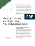 Amor y Erotismo en Vargas Llosa