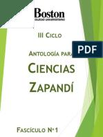 Ciencias Zapandí Fascículo N 1