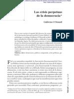 O´Donnel. Las crisis perpetuas de la democracia