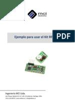 Ejemplo Para Usar El Kit RF 433Mhz