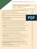 Check List de Verificacion Nom-002