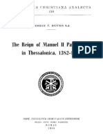 [George T. Dennis] the Reign of Manuel II Palaeolo