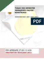 Sampul Mid Semester Manajemen Proyek Konstruksi