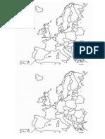 Mapa Blanco de Europa