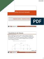 6-Quadratura de Gauss