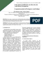 Classificacao Juntas Dilatacao Em Obras de Arte Rodoviarias Portuguesas