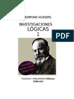 HUSSERL_Investigaciones Lógicas I