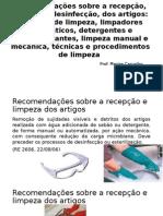 AULA - Recomendações sobre a recepção, limpeza e desinfecção.pptx